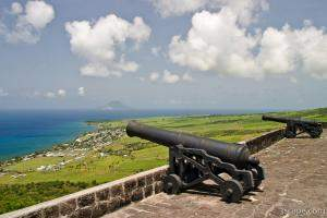 Canons at Brimstone Hill Fortress