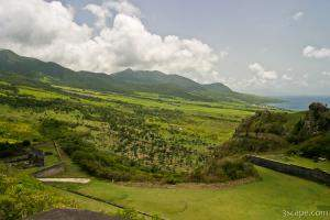 View of St. Kitts from Brimstone Hill Fortress