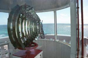 At the top of Punta Colarain Lighthouse