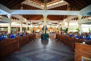The main dining hall at the Allegro