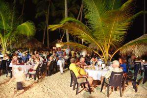 One night during the week, there was a beach party and buffet