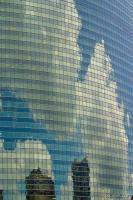 Reflective glass on 333 West Wacker Building