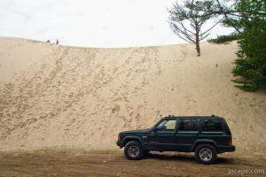 My Jeep by the dunes