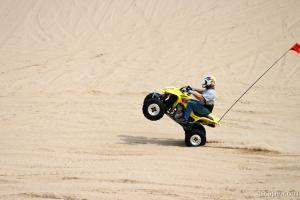 Quad ATV doing a wheelie