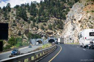 One of a few tunnels along I-70 in Colorado