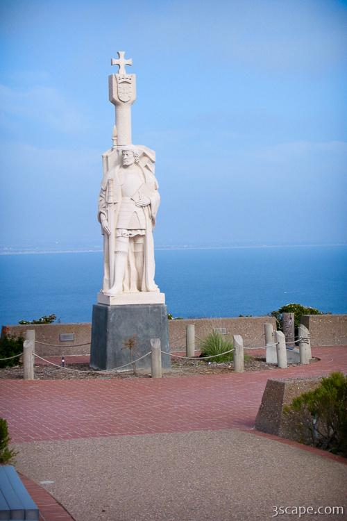 Cabrillo National Monument Statue For Juan Rodriguez Cabrillo Canvas Print By Adam Romanowicz Gi meg beskjed når prisen synker. 2