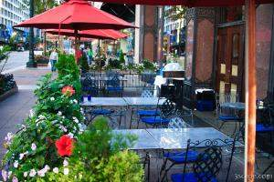 One of many downtown restaurants with outdoor seating
