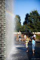 Children playing in Crown Fountain