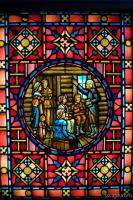 Stained glass window at First United Methodist Church (Chicago T