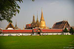 The walled area of Wat Phra Kaeo