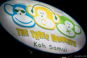 The Three Monkeys restaurant and bar - where everything on the m