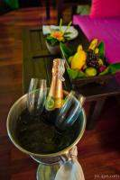Bubbly for the honeymooners