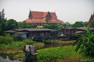 Homes over water, and temples
