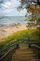 Stairs down to the Lake Michigan Beach