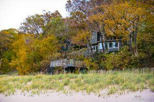 Beach house on Lake Michigan