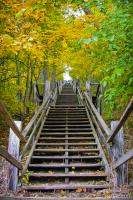 Long staircase to Mount Baldhead