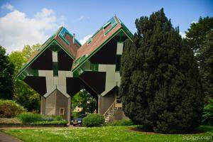 Famous cube houses designed by architect Piet Blom