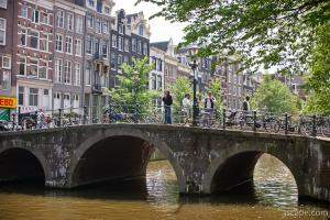 One of many canal bridges around the city