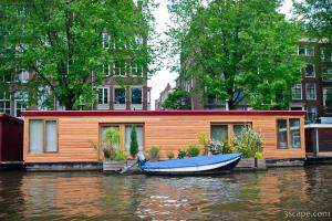 House boat on the canal