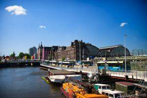The massive Amsterdam Central Station