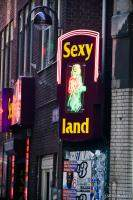 Sexyland, one of many adult shops in the Red Light District
