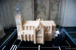 Model of the Cathedral showing different stages of additions