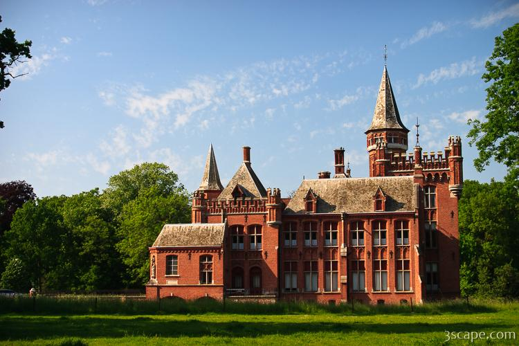 The Red Castle In The Countryside Near Brugge Photograph