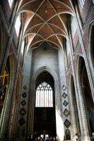 Towering arch ceiling in St Bavo Cathedral
