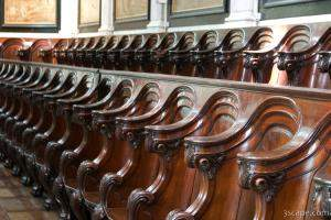 Seating for the distinguished bishops