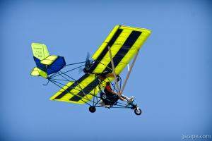 Ultralight aircraft in flight