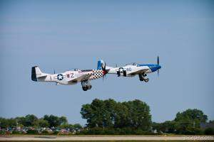 P-51D Mustangs on formation take-off