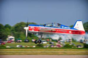 Eric Beard in his Yak 54 'Russian Thunder'