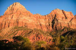 Glowing red rocks of Zion