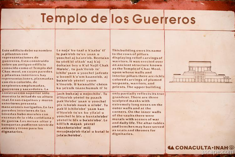 Plaque describing Temple of the Warriors
