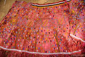 Traditional Iraqw tribe wedding skirt is made from goat skin and