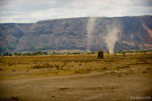 These dust devils were blowing around all over the place