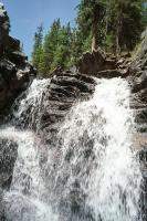 One of many cascading waterfalls