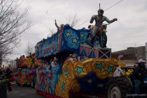 The Flying Daredevil Float (Krewe of Iris)