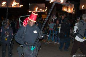 Mardi Gras Flambeaux (flame torch carriers)