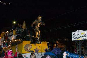 Saints-Bacchatality Float (Krewe of Bacchus)