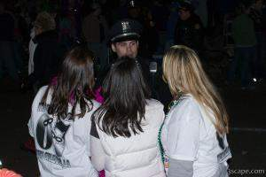 Girls flirting with a police officer