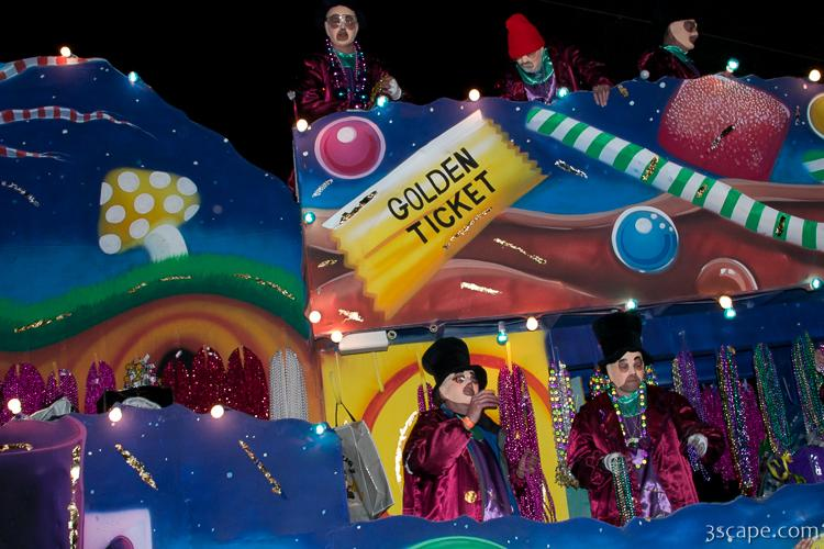 Willie Wonka and the Chocolate Factory Float (Krewe of Bacchus)