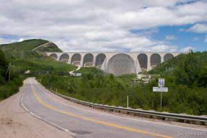 Daniel Johnson Dam - Worlds largest multiple arch and buttress dam