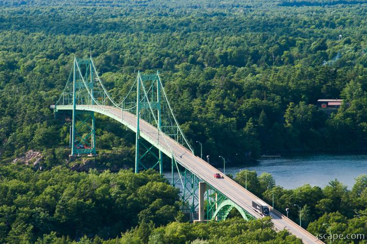 Bridge Over The St Lawrence River Near 1000 Islands
