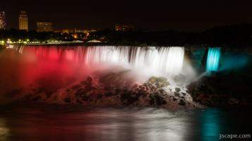 American Falls in Red, White, and Blue