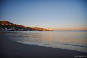 Malibu Pier at sunset