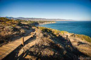View of southern California coastline from Point Dume