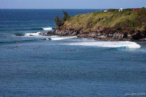 Surfers near Honolua