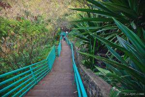 Stairway down to Mokuleia Bay beach