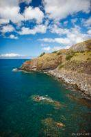 Cliffs and clear water along Maui's south shore